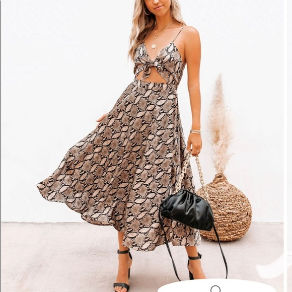 Vici Collections Snake Print Dress
